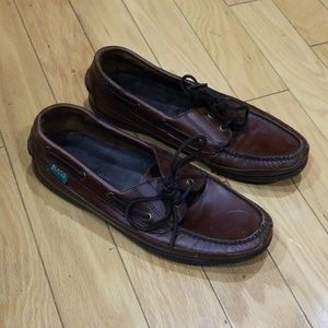 Bass brown Leather Boat Shoes Sz 10